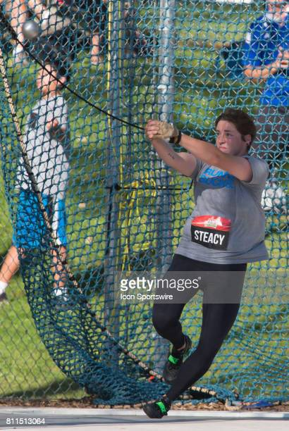 Heather Steacy in the hammer throw at the Canadian Track and Field Championships on 8 July 2017 at the Terry Fox Athletic Facility in Ottawa Canada