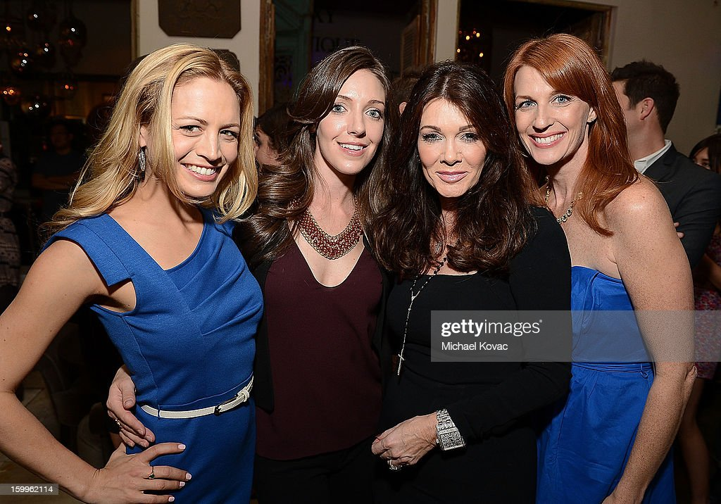 Heather Storm, Jaycie Dotin, TV personality Lisa Vanderpump, and Katie F. Ward attend Celebrities and the EMA Help Green Works Launch New Campaign at Sur Restaurant on January 23, 2013 in Los Angeles, California.