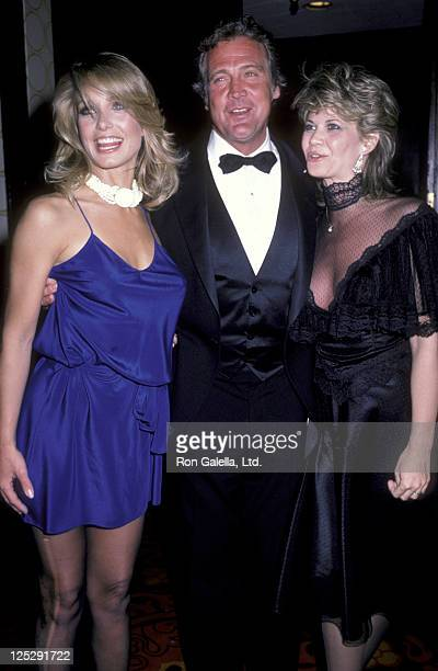 Heather Thomas actor Lee Majors and Markie Post attend 24th Annual International Broadcasting Awards on March 20 1984 at the Century Plaza Hotel in...