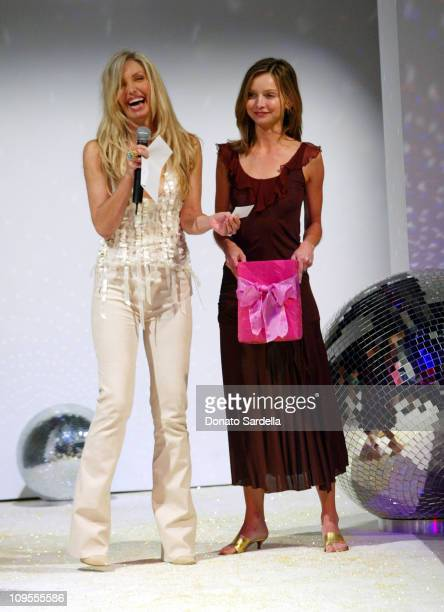 Heather Thomas and Calista Flockhart during Emanuel Ungaro and Barneys New York Fashion Show to Benefit the Rape Treatment Center Inside at Private...