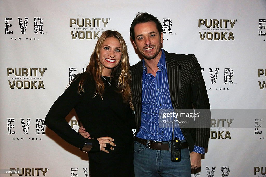 Heather Thomson and Jamie Hatchett attend the opening of EVR 54 on January 15, 2013 in New York City.