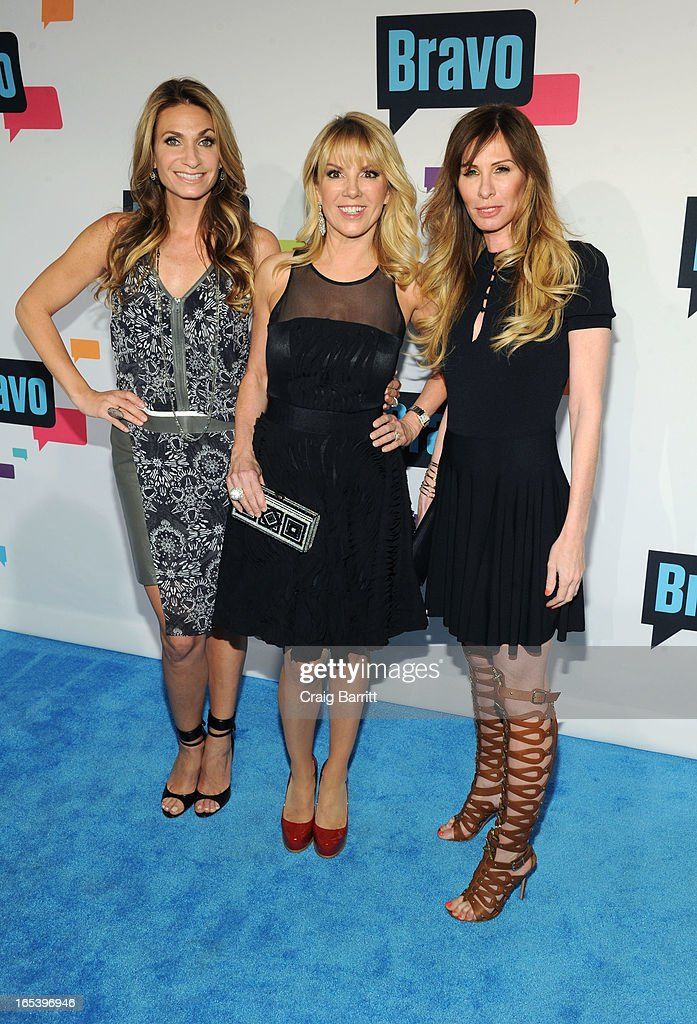Heather Thomson, Ramona Singer and Carole Radziwill attend the 2013 Bravo New York Upfront at Pillars 37 Studios on April 3, 2013 in New York City.