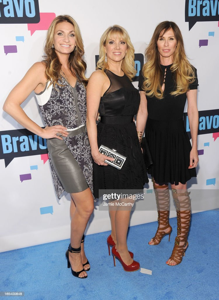 Heather Thomson, Ramona Singer and Carole Radziwill of 'The Real Housewives of New York' attend the 2013 Bravo New York Upfront at Pillars 37 Studios on April 3, 2013 in New York City.