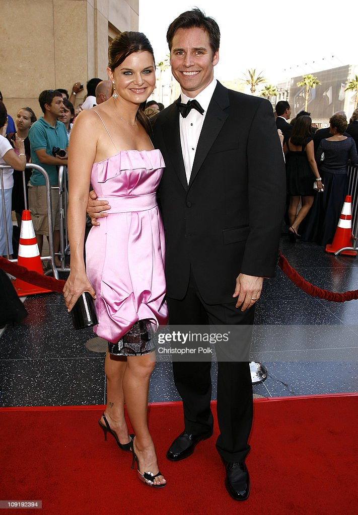 Heather Tom and Dan Gauthier during 34th Annual Daytime Emmy Awards - Red Carpet at Kodak Theatre in Hollywood, California, United States.
