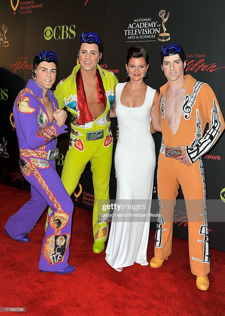 <a gi-track='captionPersonalityLinkClicked' href=/galleries/search?phrase=Heather+Tom&family=editorial&specificpeople=208780 ng-click='$event.stopPropagation()'>Heather Tom</a> arrives at 38th Annual Daytime Entertainment Emmy Awards For Soap Opera Weekly on June 19, 2011 in Las Vegas, Nevada.