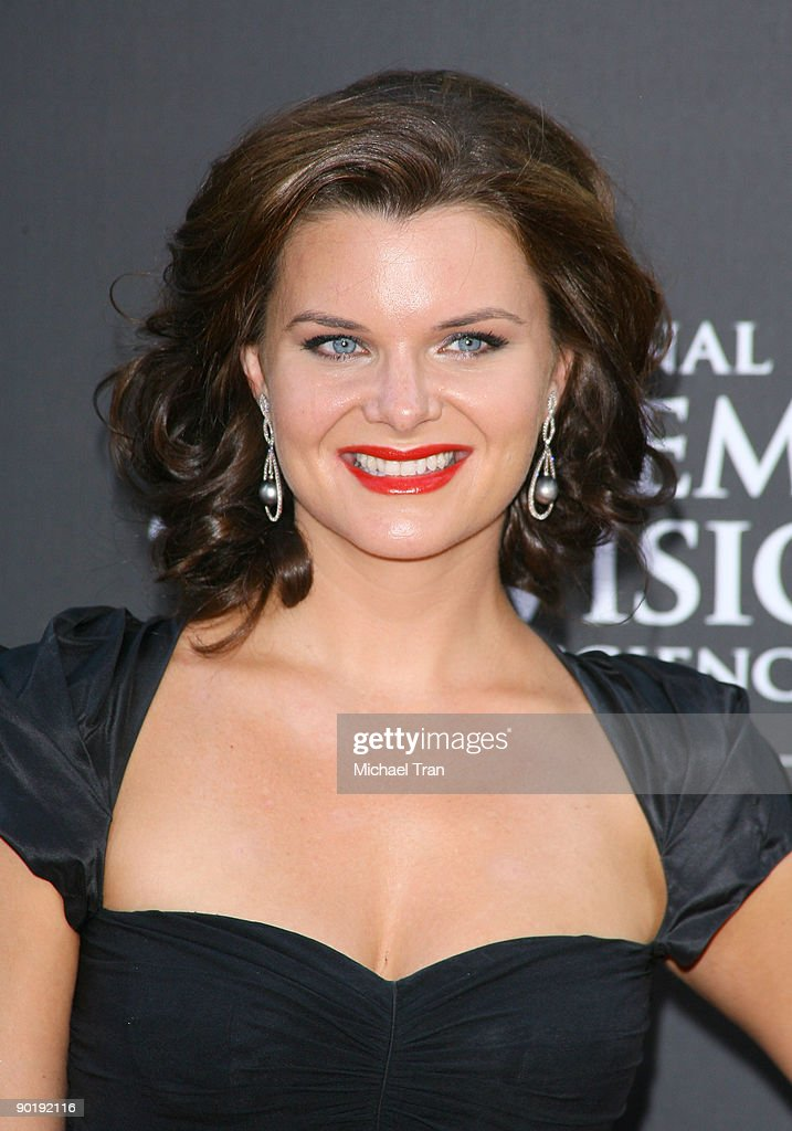 Heather Tom arrives to the 36th Annual Daytime Emmy Awards held at The Orpheum Theatre on August 30, 2009 in Los Angeles, California.