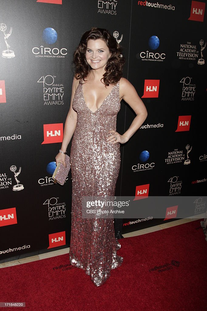 Heather Tom of The Bold and the Beautiful on the red carpet at THE 40TH ANNUAL DAYTIME ENTERTAINMENT EMMY AWARDS at THE BEVERLY HILTON in Los Angeles.