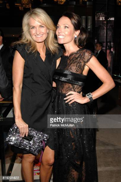 Heather Vandenberghe and Stacey Kimmel attend Salon de Louis Vuitton honoring Mikhail Baryshnikov at Louis Vuitton Maison on July 6 2010 in New York...