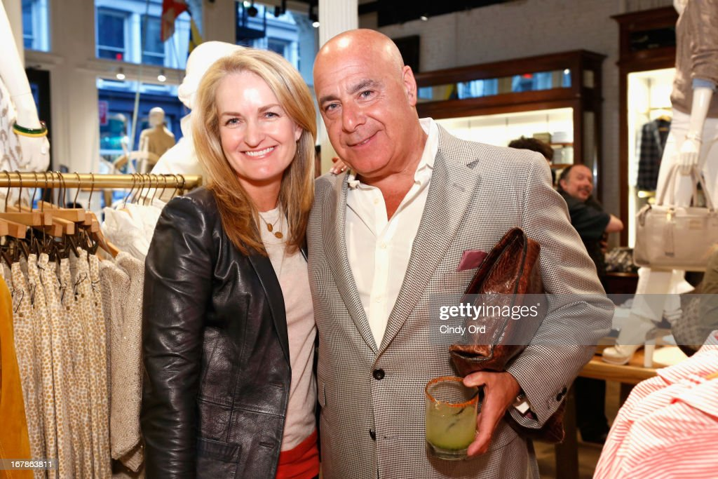 Heather Vandenberghe, SVP Marketing and Communication at Tommy Hilfiger and Kevin Martinez, Vice President and Publisher of Details attend Tommy Hilfiger celebrates redesigned Soho store with event for Fresh Air Fund on May 1, 2013 in New York City.