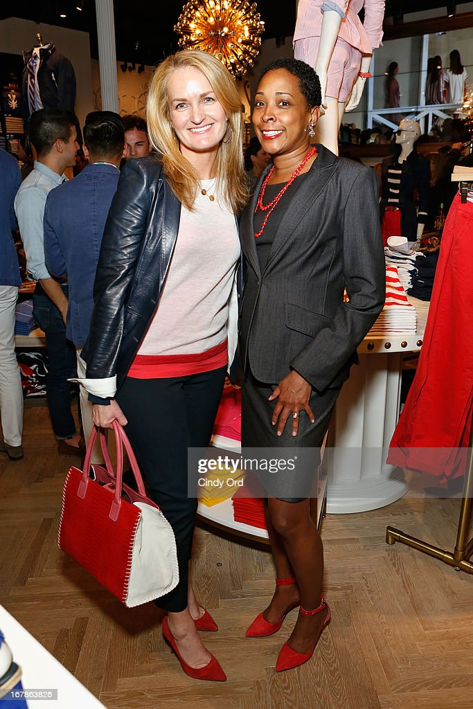 Heather Vandenberghe, SVP Marketing and Communication at Tommy Hilfiger and Elizabeth Clardy, Director Community Outreach & Support Services at The Fresh Air Fund attend Tommy Hilfiger celebrates redesigned Soho store with event for Fresh Air Fund on May 1, 2013 in New York City.