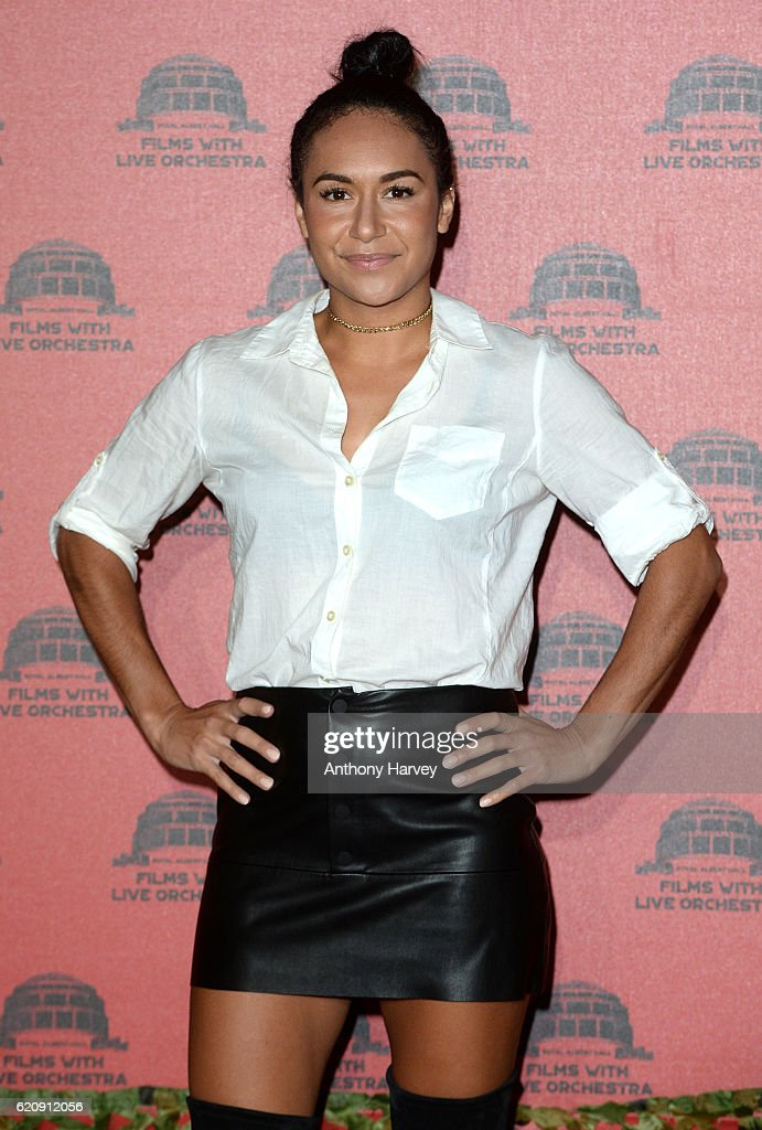 Heather Watson attends Jurassic Park Live at the Royal Albert Hall on November 3, 2016 in London, England.