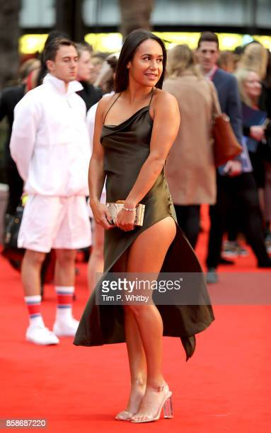 Heather Watson attends the American Express Gala European Premiere of 'Battle of the Sexes' during the 61st BFI London Film Festival on October 7...