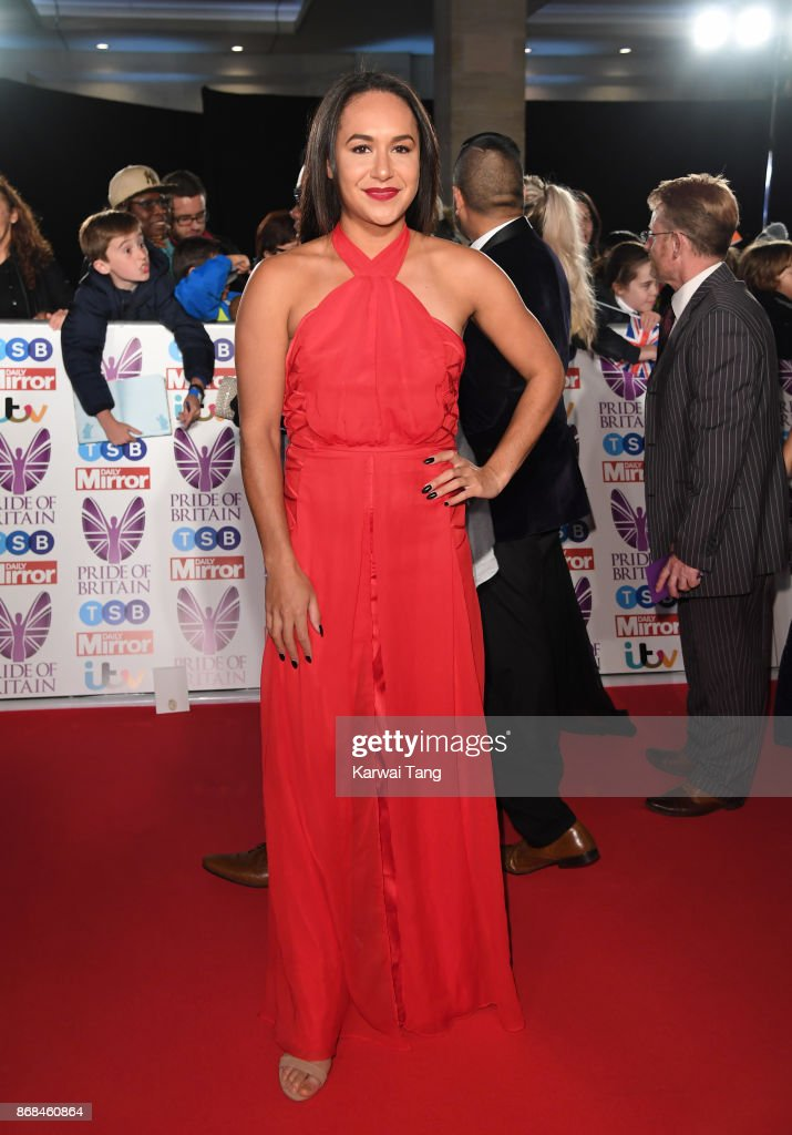 Heather Watson attends the Pride Of Britain Awards at the Grosvenor House on October 30, 2017 in London, England.