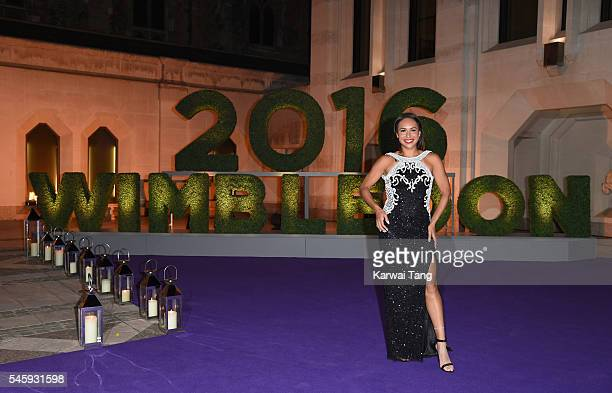 Heather Watson attends the Wimbledon Winners Ball at The Guildhall on July 10 2016 in London England