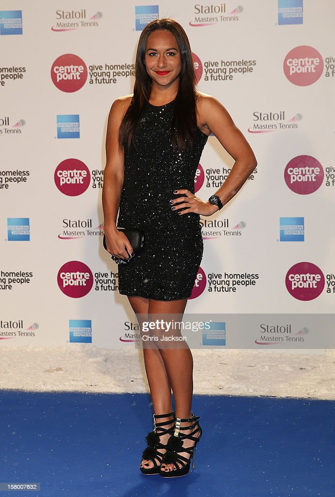 Heather Watson attends the Winter Whites Gala at Royal Albert Hall on December 8, 2012 in London, England.