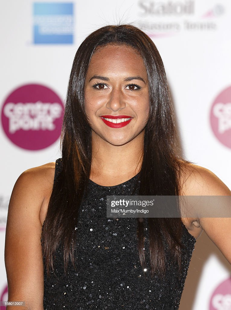 Heather Watson attends the Winter Whites Gala, in aid of homeless charity Centrepoint, at The Royal Albert Hall on December 08, 2012 in London, England.