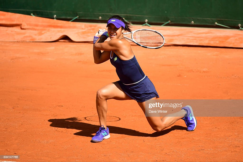 Heather Watson during the Women's Singles second round on day four of the French Open 2016 at Roland Garros on May 25, 2016 in Paris, France.