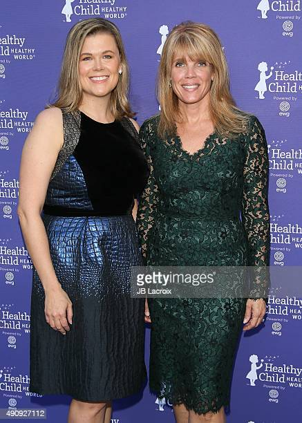 Heather White and Laura Turner Seydel attend the Healthy Child Healthy World event held at Montage Beverly Hills on October 1 2015 in Beverly Hills...