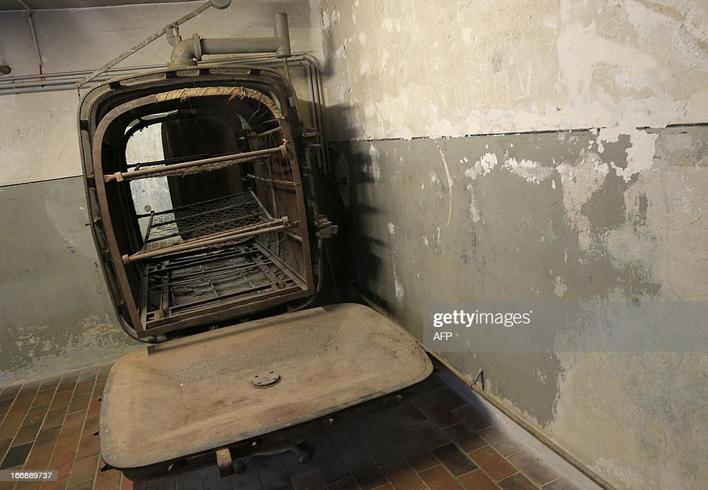A heating device is seen at the laundry barrack of the World War II concentration camp of Mauthausen, on April 17, 2013.