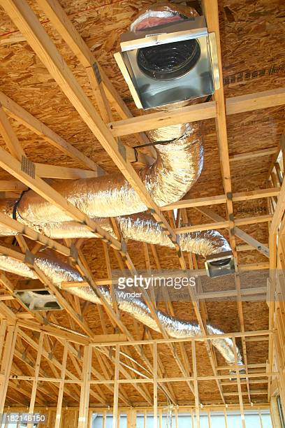 Heating ducts in unfinished ceiling