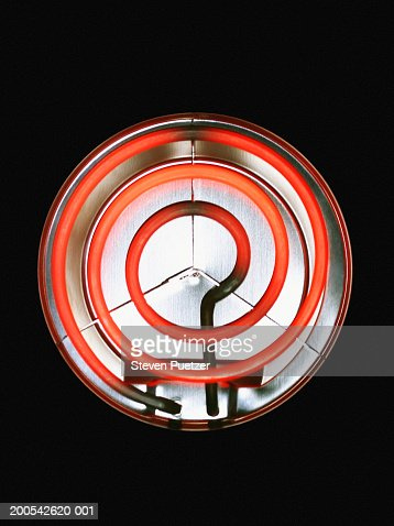 Heating element on electric stove, overhead view