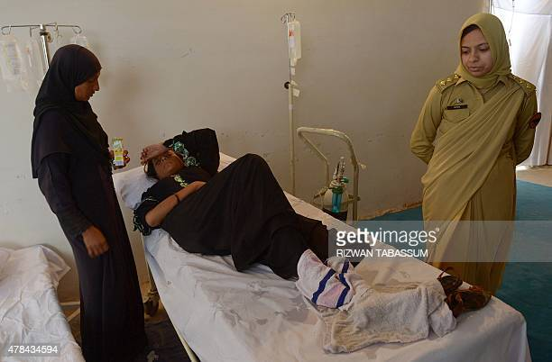 A heatstroke victim rests at a Pakistani army medical camp in Karachi on June 25 2015 The death toll from a major heatwave in Pakistan passed 1000 on...