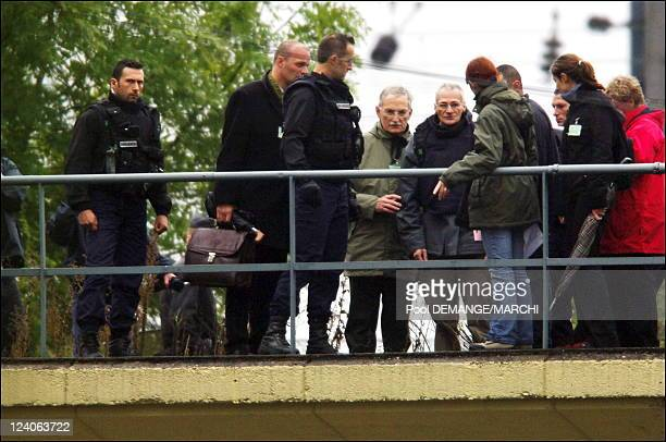 Heaulme at the reconstruction of Montigny les Metz France on October 03 2006 The serial killer Francis Heaulme participated in the reconstruction...