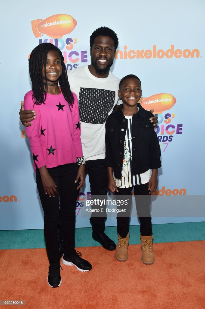 heaven-hart-actor-kevin-hart-and-hendrix-hart-at-nickelodeons-2017-picture-id652280048