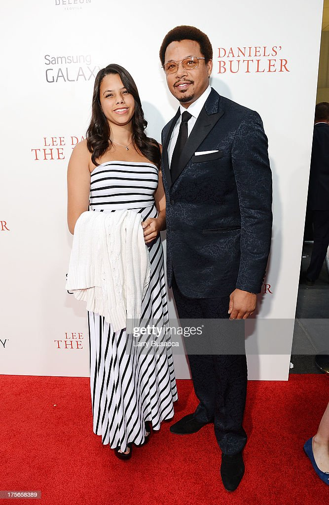 Heaven Howard and actor <a gi-track='captionPersonalityLinkClicked' href=/galleries/search?phrase=Terrence+Howard&family=editorial&specificpeople=215196 ng-click='$event.stopPropagation()'>Terrence Howard</a> attend Lee Daniels' 'The Butler' New York premiere, hosted by TWC, DeLeon Tequila and Samsung Galaxy on August 5, 2013 in New York City.