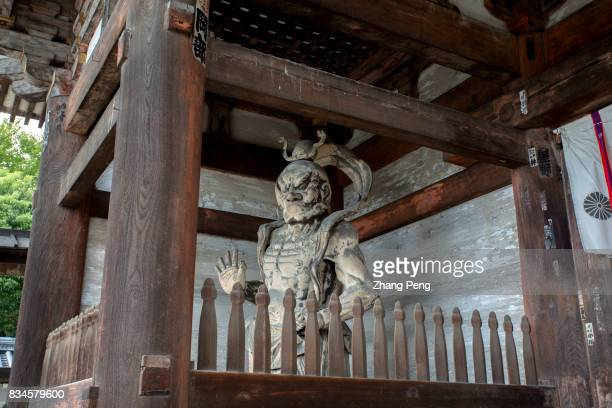 Heavenly kings guarding the Niomon Gate Ninnaji temple overseen by Emperor Uda and completed in the 4th year of Ninna era as the royal imperial...