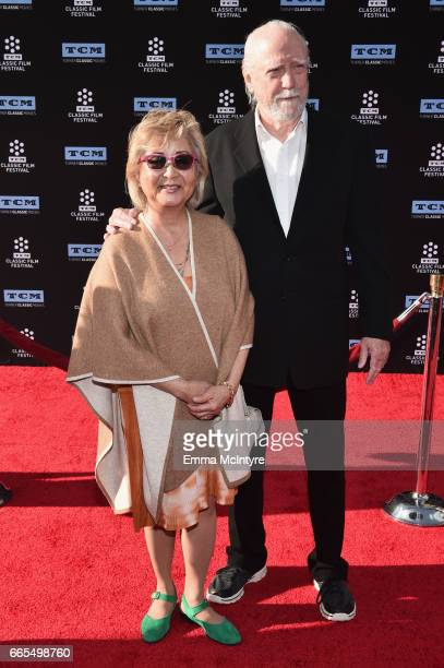Heavenly Koh Wilson and actor Scott Wilson attend the 50th anniversary screening of 'In the Heat of the Night' during the 2017 TCM Classic Film...