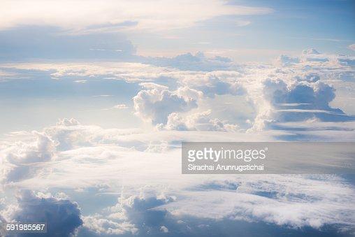 Heavenly scene above cloud level : Stock Photo