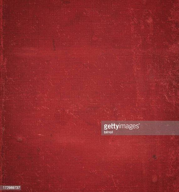 heavily distressed red book cover