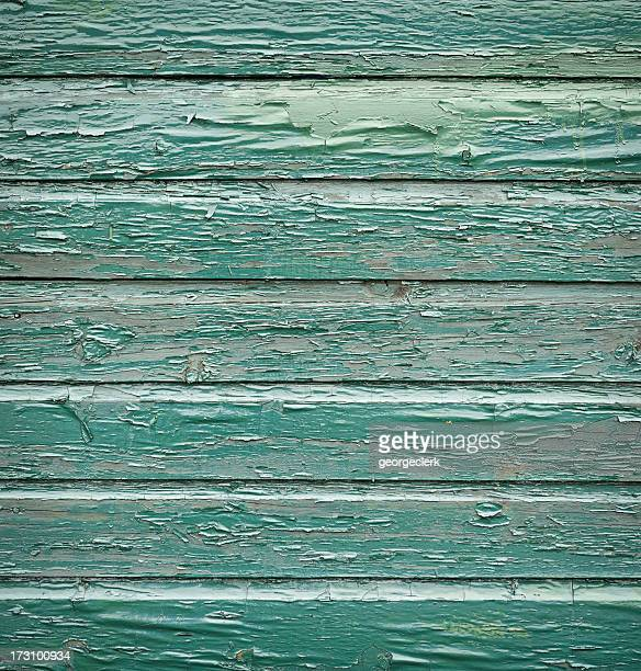 Heavily Weathered Green Painted Wood