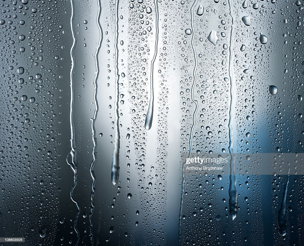 Heavy condensation on shadowy blue