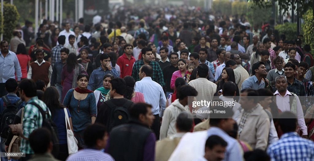 Heavy Crowd visit the 32th India International trade Fair at Pragati Maiden on November 23, 2012 in New Delhi, India. IITF is the one of the largest trade fairs in Asia with participation of more than 7000 exhibitors from India and overseas.