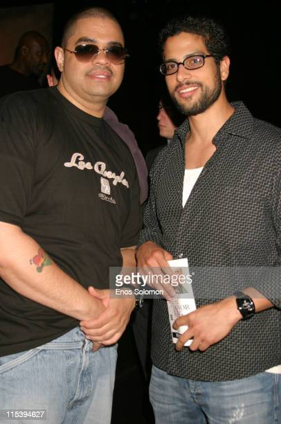 Heavy D and Adam Rodriguez during 'Medal of Honor Rag' Starring Heavy D Preview Night at Egyptian Arena Theatre in Hollywood California United States