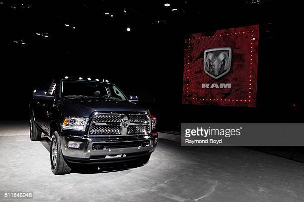 Heavy Duty pickup truck is on display at the 108th Annual Chicago Auto Show at McCormick Place in Chicago Illinois on February 11 2016