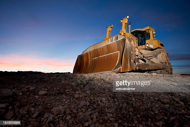 Heavy Equipment Bulldozer at Sunset