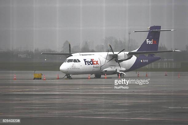 Heavy fog paralyzes Gdansk Lech Walesa airport All arrivals were cancelled only a few aircraft takeoffs held in Gdansk Poland on November 27 2014