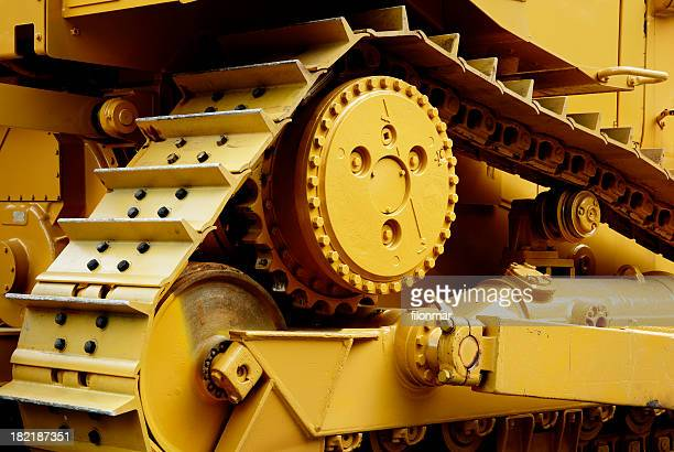Heavy machinery painted in yellow