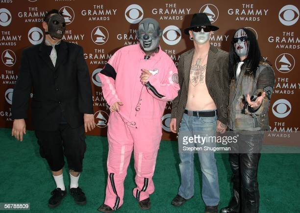 Heavy Metal Band Slipknot arrives at the 48th Annual Grammy Awards at the Staples Center on February 8 2006 in Los Angeles California