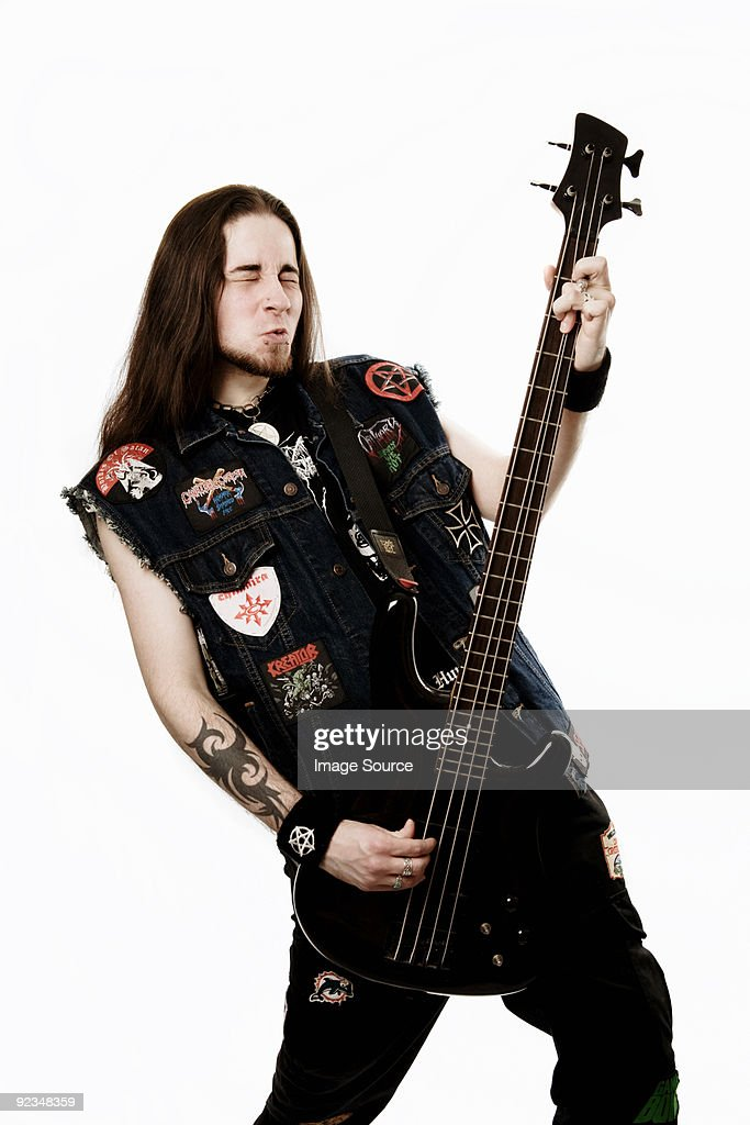 Heavy metal bass player