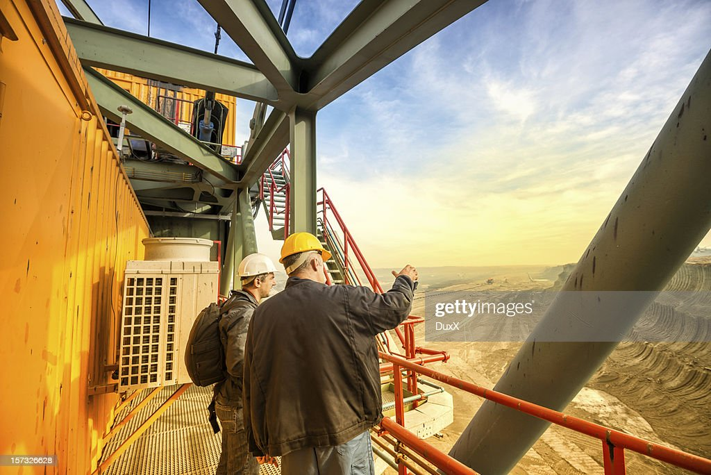 Heavy mining industry workers