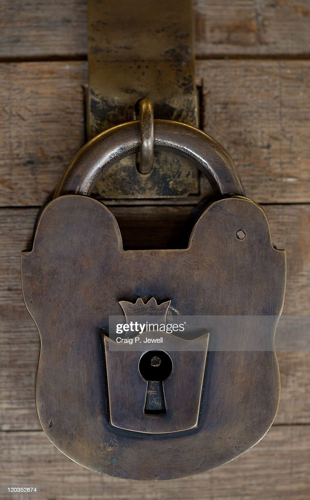 Heavy old brass lock