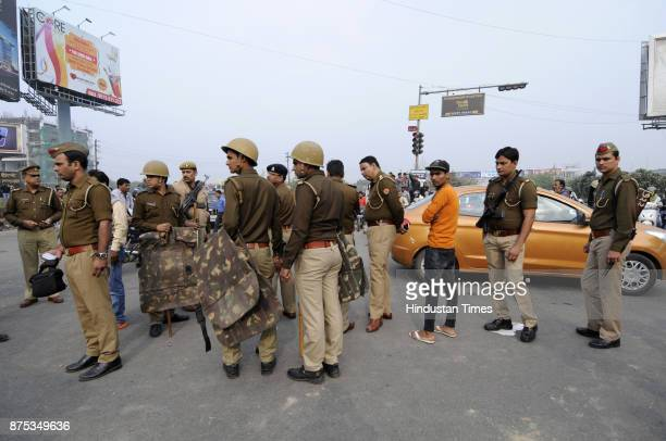 Heavy Police deployment as family members and supporters blocked and protested with Shiv Kumars body on the sector 71 road and demanded the arrest of...