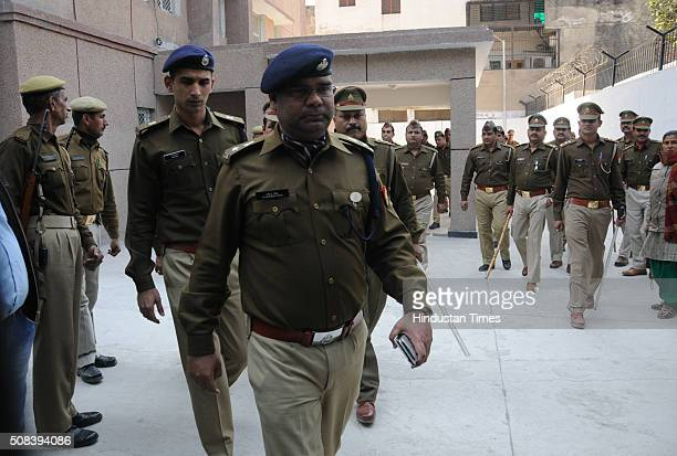Heavy police deployment during hearing of corruption case against Uttar Pradesh Chief Engineer Yadav Singh at the CBI Court complex on February 4...