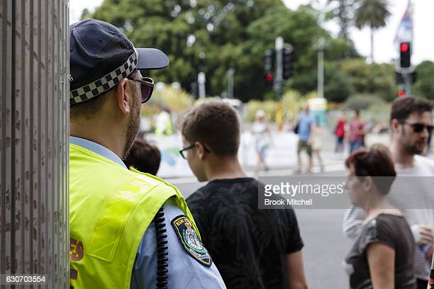 Heavy police presence in Sydney amid ongoing concern over possible terrorist attaacks on New Year's Eve on December 31 2016 in Sydney Australia