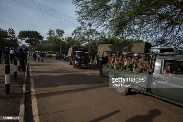 Heavy police unit presence is blocking the access roads to Uhuru park a place where Raila Odinga wanted to address the rally crowd The welcome rally...