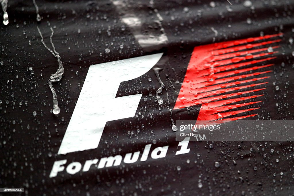 Heavy rain affects preparations ahead of the Japanese Formula One Grand Prix at Suzuka Circuit on October 2 2014 in Suzuka Japan